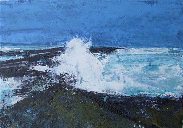 Irish artist Cormac O'Leary: Painting 'Sligo Headland'